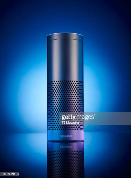 An Amazon Echo multimedia smart speaker taken on November 28 2016