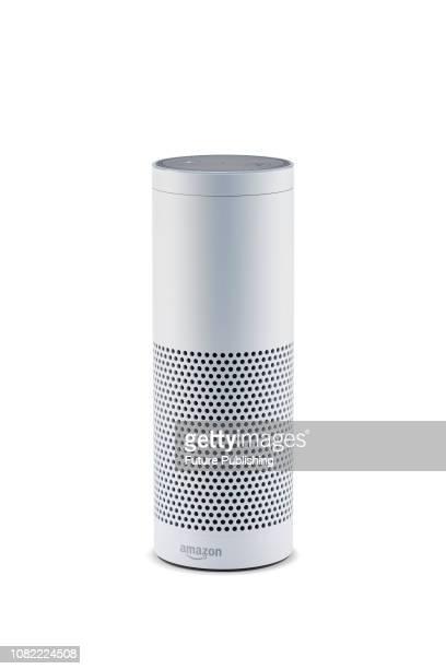 An Amazon Echo Plus smart speaker taken on January 9 2019