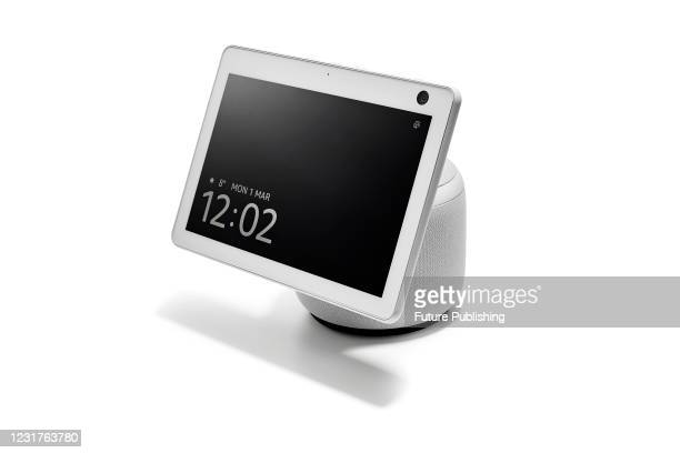 An Amazon Echo Show 10 smart display and multimedia speaker, taken on March 1, 2021.