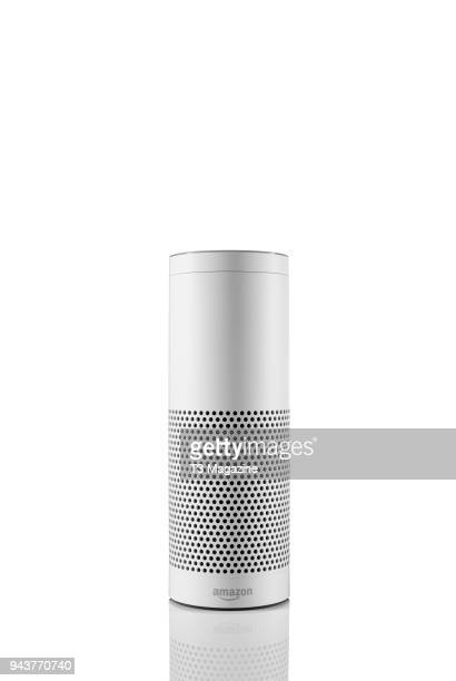 An Amazon Echo smart multimedia speaker taken on September 6 2017