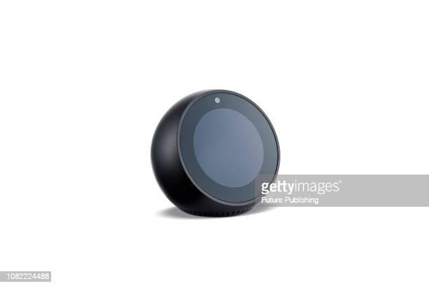 An Amazon Echo Spot smart speaker taken on January 9 2019