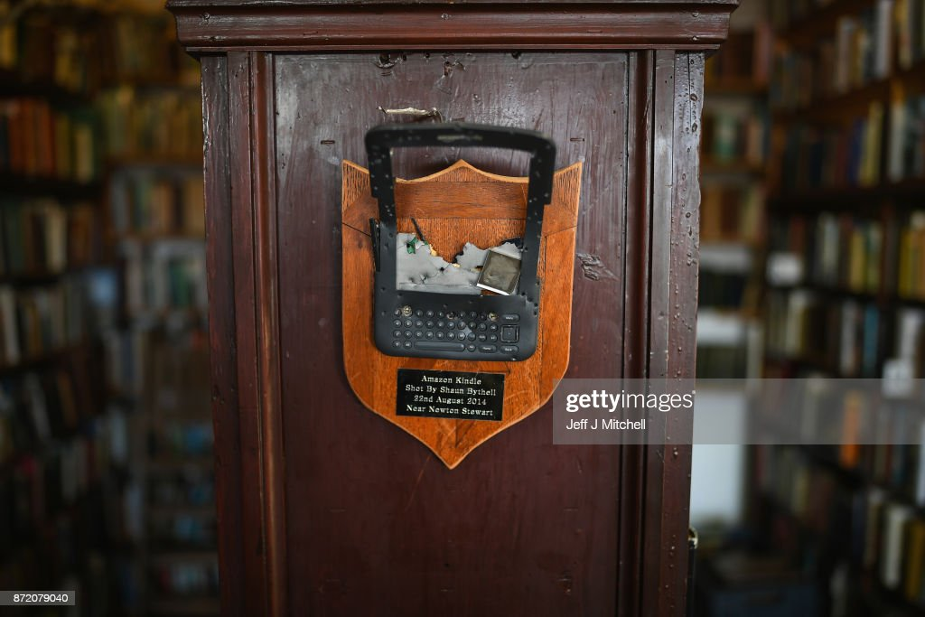 An Amazon Kindle shot by Shaun Bythell, owner of The Book Shop, the largest second hand store in the country on November 9, 2017 in Wigtown,Scotland. Wigtown has had official 'book town' status since 1998, with Mr Bythell owning Scotland's largest second hand book shop since 2001with a stock of over one hundred thousand books covering almost every imaginable subject.