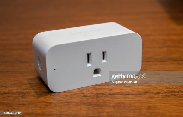 An 'Amazon Smart Plug' is pictured at Amazon Headquarters following a launch event on September 20 2018 in Seattle Washington Amazon launched more...
