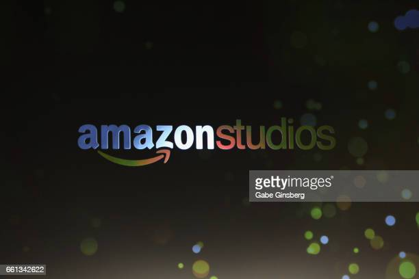 An Amazon Studios logo is displayed at the final day luncheon and special program 'Amazon Studios Delivering the best in independent cinema' at The...