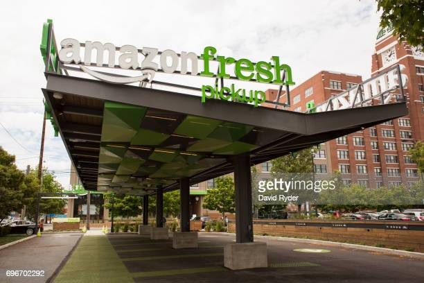 An AmazonFresh Pickup location is seen on June 16 2017 in Seattle Washington Amazon announced that it will buy Whole Foods Market Inc for over $13...