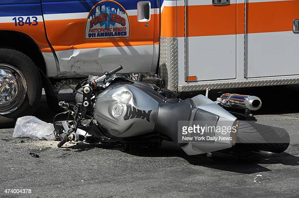 An ambulance and a motorcycle crashed into each other Friday on New York City's Upper East Side The 44yearold biker and ambulance plowed into each...