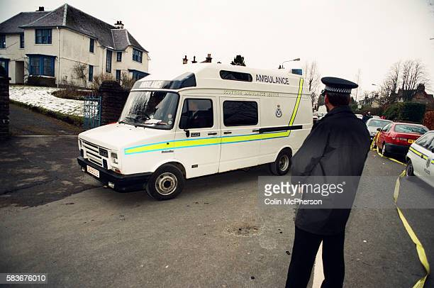 An ambulance arriving at Dunblane primary school Scotland shortly after the shooting incident on the premises The Dunblane school massacre was one of...