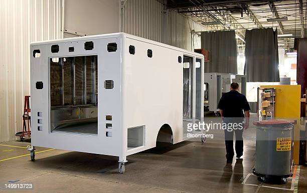 An ambulance module waits to be painted at the Horton Emergency Vehicles facility in Grove City Ohio US on Friday Aug 3 2012 Horton Emergency...