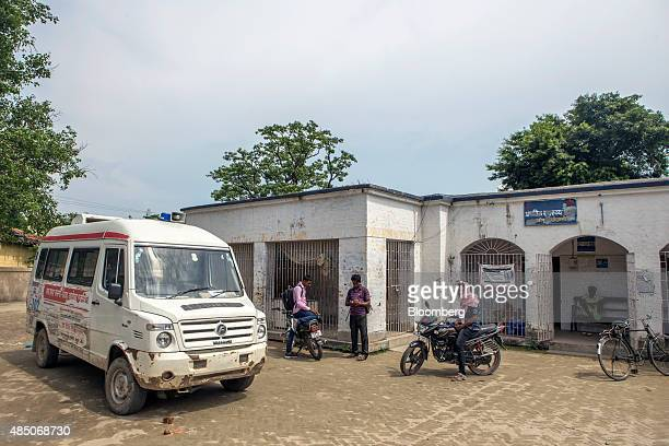 An ambulance stands outside the Primary Health Care Center in Raghopur Bihar India on Monday July 27 2015 More than anywhere Bihar reflects the...