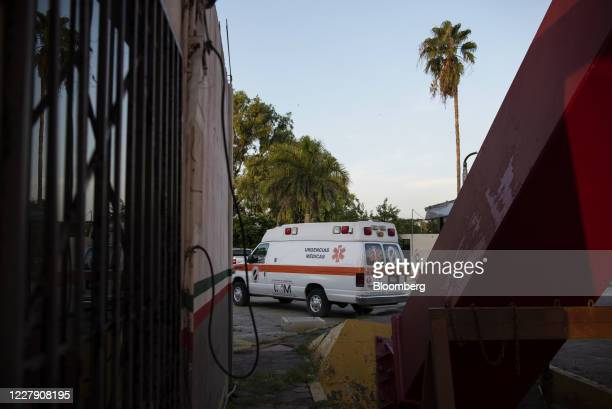 An ambulance travels along a street in Matamoros, Tamaulipas state, Mexico, on Wednesday, July 29, 2020. The Rio Grande Valley, a four-county region...