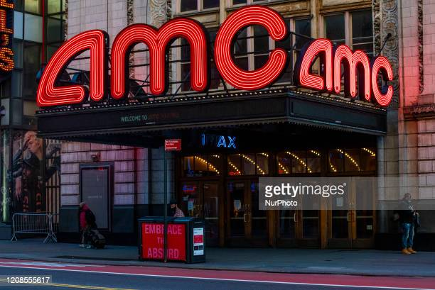 An AMC Theater in Times Square is closed for business on Friday March 2020 in New York NY The city officially announced the closure of all...