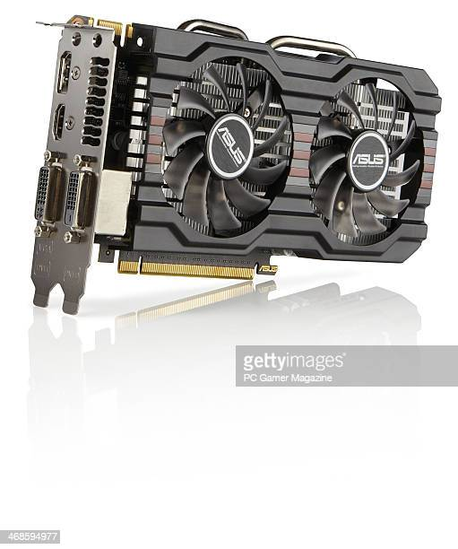 An AMD GTX 650 Ti Boost SLI GPU photographed on a white background taken on May 1 2013