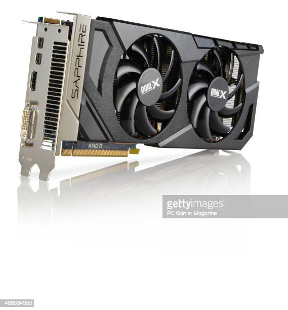 An AMD HD 7870 XT CrossFireX GPU photographed on a white background taken on May 1 2013