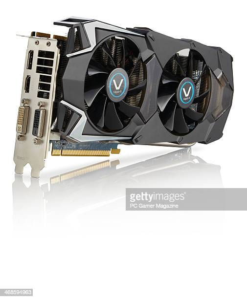 An AMD HD 7970 GHz Edition CrossFireX GPU photographed on a white background taken on May 1 2013