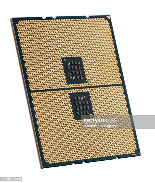 An AMD Ryzen Threadripper 3970X processor, taken on December 5, 2019.