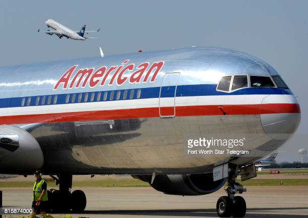 An American Airlines jet at DallasFort Worth International Airport in 2013