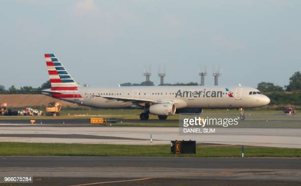 An American Airlines jet lands at Philadelphia International Airport on June 1 in Philadelphia Pennsylvania