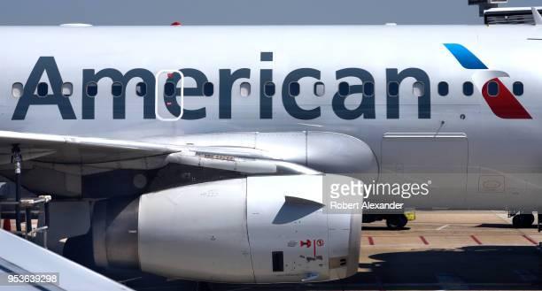 An American Airlines passenger aircraft parked at a gate at Ronald Reagan Washington National Airport in Washington DC
