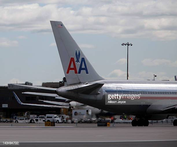 An American Airlines plane is seen at John F Kennedy International Airport April 27 2012 in the Queens borough of New York City
