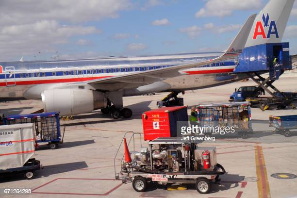 An American Airlines plane on the tarmac at Miami International Airport