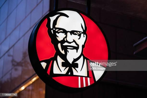 An American fast food restaurant chain Kentucky Fried Chicken or KFC logo seen in Shanghai