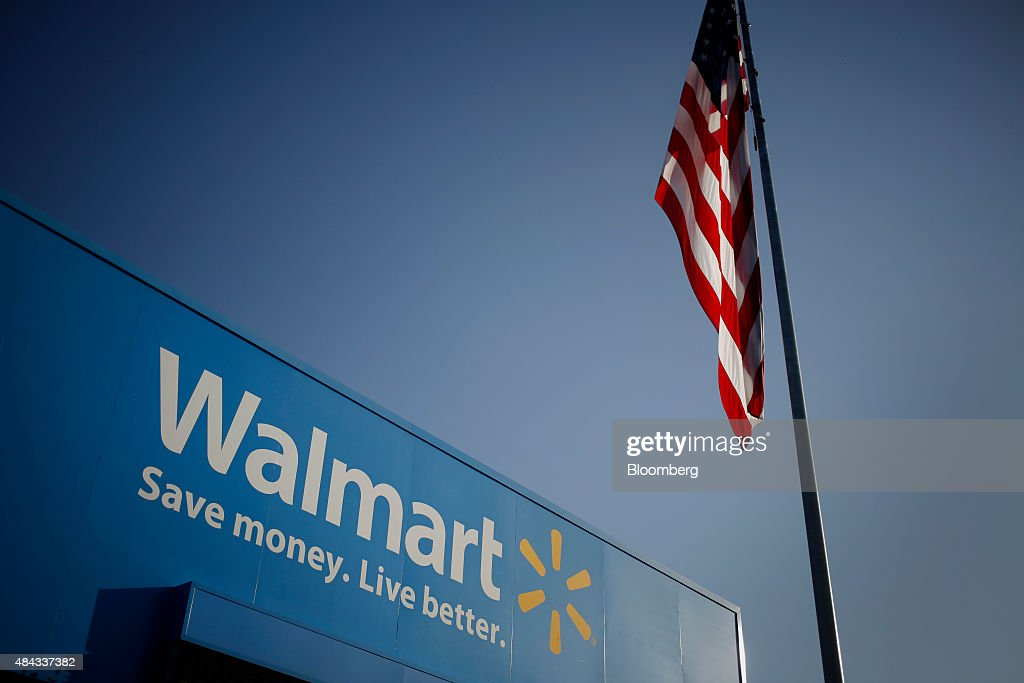 A Wal-Mart Stores Inc. Location Ahead Of Earnings Figures : News Photo