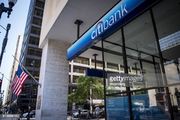 An American flag flies outside a Citigroup Inc bank branch in Chicago Illinois US on Saturday July 8 2017 Citigroup Inc is scheduled to release...
