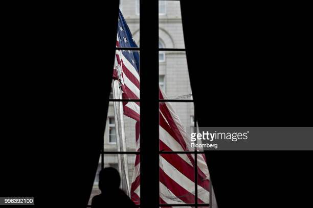 An American flag flies outside the Environmental Protection Agency headquarters in Washington DC US on Wednesday July 11 2018 EPA Acting...