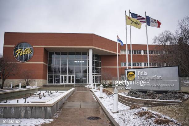An American flag flies outside the Pella Corp manufacturing facility in Pella Iowa US on Thursday Feb 22 2018 The US Census Bureau is scheduled to...