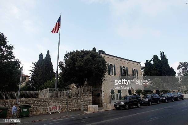 An American flag flies over the US Consulate on August 4 2013 in Jerusalem Israel Fresh intelligence led the United States to conclude that...