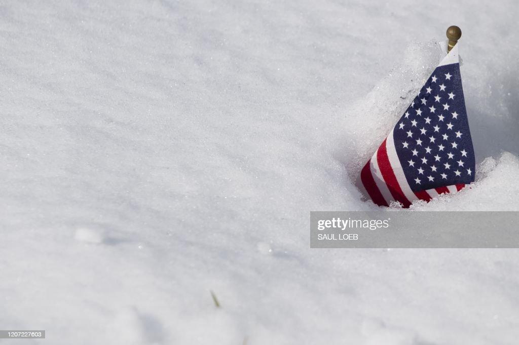 US-WEATHER-SNOW : News Photo