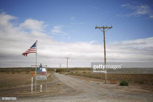 An American flag near the Southern border of the United States in Fort Hancock Texas US on Wednesday Nov 8 2017 If the renegotiation of the North...