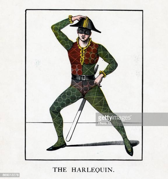 An American illustration of a harlequin 1870