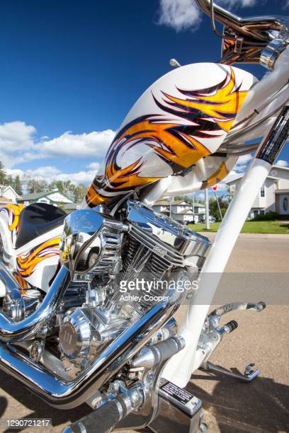 an american iron horse, texas chopper motorbike. - ashley grace stock pictures, royalty-free photos & images
