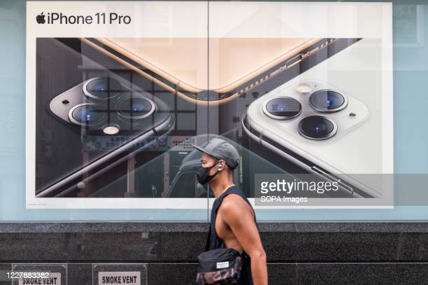 An American multinational technology company Apple Iphone 11 Pro advertisement in Hong Kong