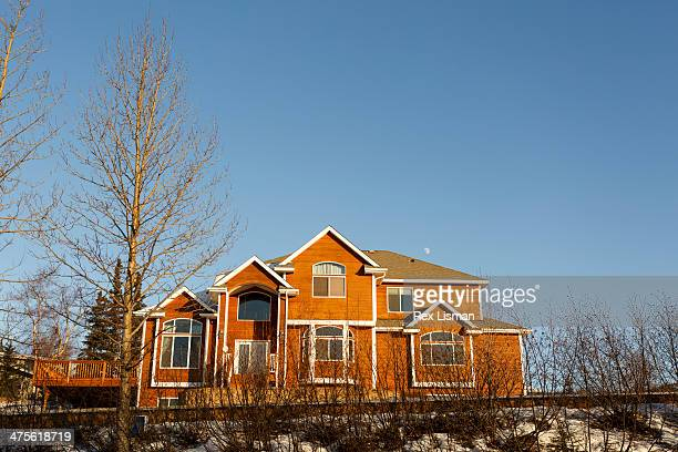 An American suburban house Anchorage Alaska