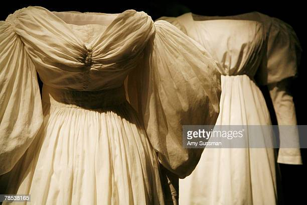 An American underdress 183035 is displayed at the Blogmode addressing fashion exhibit at the Metropolitan Museum of Art's Costume Institute on...
