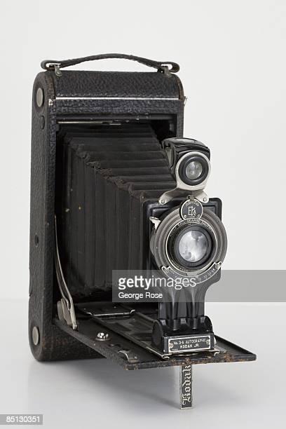 An Americanmade Eastman Kodak Junior Autographic No 3A folding film camera is seen in this 2009 Healdsburg California studio photo