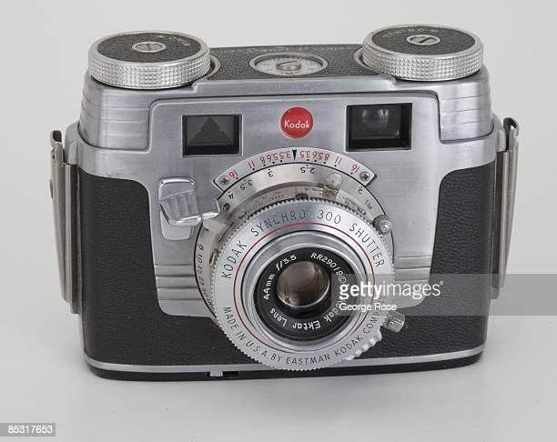 An Americanmade Kodak 'Signet 35' 35mm film rangefinder camera with an Ektar 44mm f35 lens is seen in this 2009 Healdsburg California studio photo