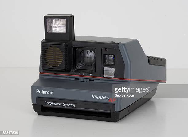 An Americanmade Polaroid Impulse AF instant film camera is seen in this 2009 Healdsburg California studio photo