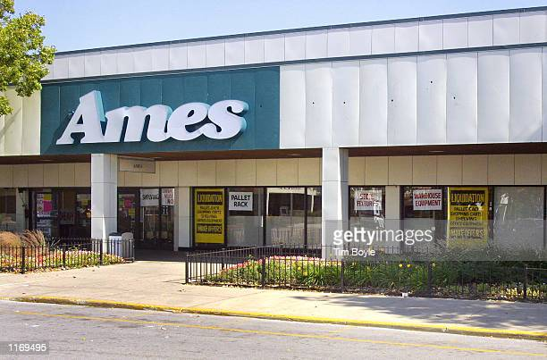 An Ames department store holding a liquidation sale is seen October 18 2001 in Chicago Ames which has declared bankruptcy protection twice in the...