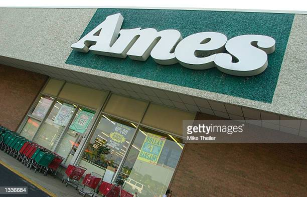 An Ames Department Store stands August 14 2002 in Alexandria Virginia Ames Chairman and CEO Joseph R Ettore in announced that the discount chain...