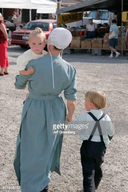 An Amish family at Shipshewana Flea Market
