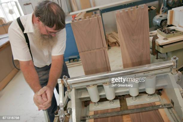 An Amish furnituremaker at Lambright Woodworking