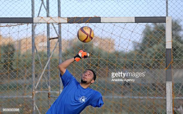 An amputee soccer player who lost his leg during Israel's assaults towards Gaza of 'The Crutches' which is Gaza's first soccer team for amputees...