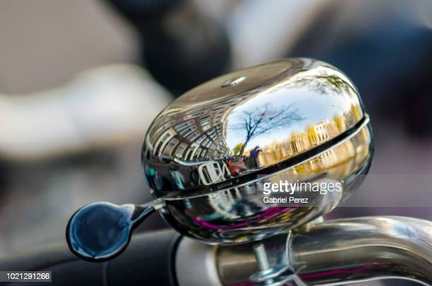 an amsterdam bicycle bell - bell stock pictures, royalty-free photos & images
