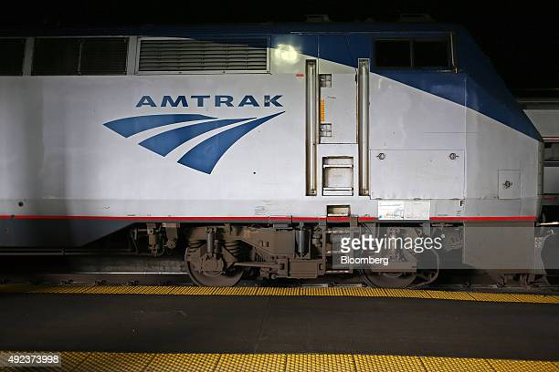 An Amtrak locomotive sits parked inside Union Station in Chicago Illinois US on Thursday Oct 8 2015 The head of Amtrak warned Congress that some...