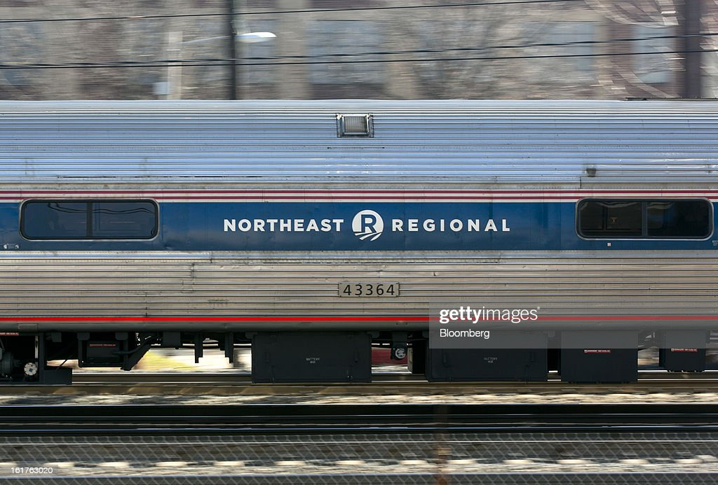 An Amtrak northeast regional passenger train departs Union Station in Washington, D.C., U.S., on Friday, Feb. 15, 2013. Amtrak, the U.S. long-distance passenger railroad and federally subsidized since its beginning 41 years ago, last month reported its lowest operating loss in nearly four decades, announcing the passenger rail company had reduced its total operating loss by 19 percent compared to the previous year. Photographer: Andrew Harrer/Bloomberg via Getty Images