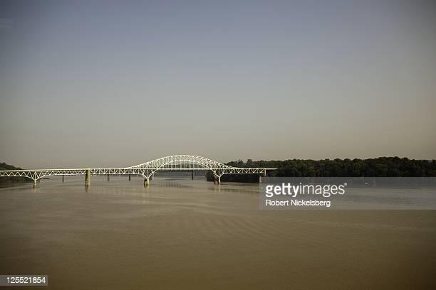 An Amtrak passenger train crosses a bridge over Susquehanna River September 14 2011 where it meets the northern Chesapeake Bay near Havre De Grace...