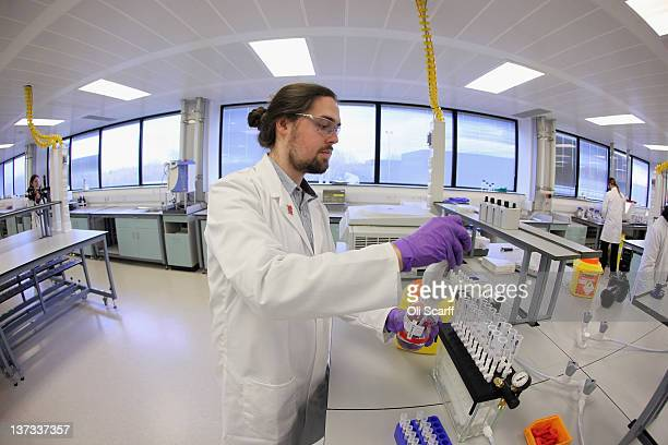 An analyst works in the antidoping laboratory which will test athlete's samples from the London 2012 Games on January 19 2012 in Harlow England The...